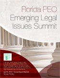 2015 Florida PEO Emerging Legal Issues Summit brochure